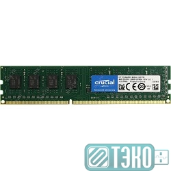 Модуль памяти DDR3 DIMM 4GB PC3-12800, 1600MHz Crucial [CT51264BD160B]