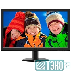 Монитор 24' PHILIPS  243V5LSB/10(62) Black LCD, TN, 1920 x 1080, 5 ms, 170/160, 10M:1, 5ms, 25