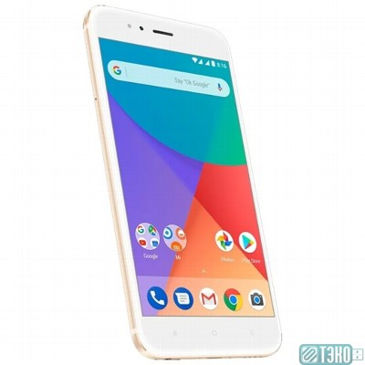 Смартфон Xiaomi Mi A1 Gold 64GB 5.5'' (1920х1080)IPS/Snapdragon 625 MSM8953/64Gb/4Gb/3G/4G/12/12MP+5MP/Android 7.1